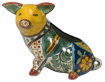 Talavera Pig Flower Pot