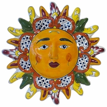 Talavera Pointed Ray Hanging Sun Face