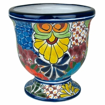Talavera Goblet Flower Pot - Medium