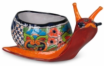 Talavera Snail Flower Pot Planter