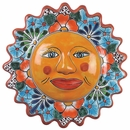 "Medium Talavera Sun Face - 13.5"" Dia."