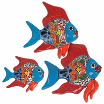 Talavera Wall Fish  - Set of 3