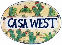 Talavera Wall Plaque - Custom Message