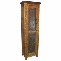 Tall Cabinet with Rusted Iron Door