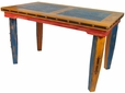 Tall Multi-Color Dining Table - Mexican Country Style