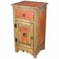 Tall Santa Fe Painted Wood Nightstand - Red