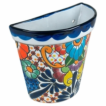 Tapered Talavera Wall Pot