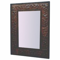 Teton Hammered Metal Mirror Frame