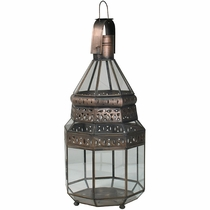 Tin and Glass Moroccan Candle Lantern
