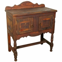 Turned Leg Sideboard - Brown