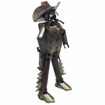 Western Sheriff Metal Yard Art Sculpture