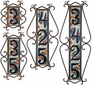 Wrought Iron Address Tile Holders - Vertical - 5 Sizes