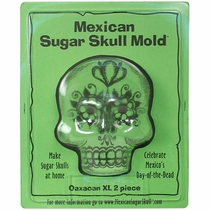 X-Large Oaxacan Sugar Skull Molds - Front & Back - 2 Sets