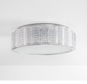 Aaria 3 Light Ceiling Mount Clear by Cyan Design