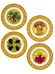 Abigails Gathered Garden Chargers (Set of 4)
