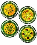 Abigails Gathered Garden Fruit Plates (Set of  4)
