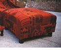 Abigails Kilim Ottoman Patchwork Orange