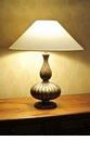 Abigails Table Lamp Mother of Pearl Gourd Shape