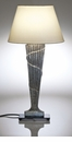 Abigails Table Lamp Silver with Shade Vendome