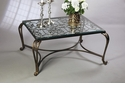 Acanthus Leaf Table - Bronze With Antique Brass Medallions And Beveled Glass Home Decor