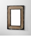Adler Rustic Wood Wall Mirror by Cyan Design
