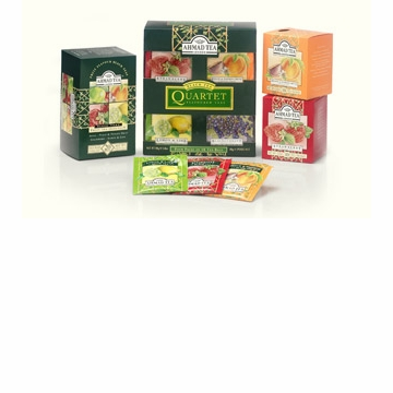 Ahmad Tea London English Fruit Tea Quartet - Flavored Black Tea
