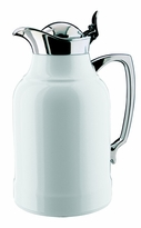 Alfi Carafes Opal Thermal Carafe - White Lacquered Brass with Chrome Plated Trim - Medium