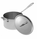All Clad 4 Quart Covered Sauce Pan with Loop Stainless Steel
