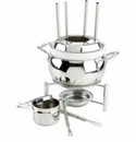 All Clad Stainless Steel Fondue Pot with Ceramic Insert