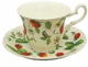 Alpine Strawberry Bone China Cup & Saucer Set - Made in England