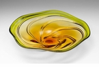 Amber Swirl Art Glass Plate by Cyan Design