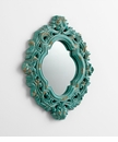 Ancient Blue Resin Decorative Mirror by Cyan Design