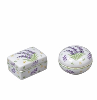 Andrea by Sadek 2 Assorted Boxes Round/Rectangular Lavender