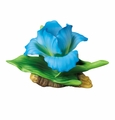 "Andrea by Sadek 3.5""H Blue Iris Porcelain Flower Figurine"
