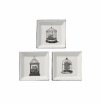 "Andrea by Sadek 3 Assorted 5"" Square Plates - Terrariums"
