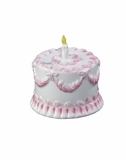 "Andrea by Sadek 4.5"" H Pink Birthday Cake Bank"