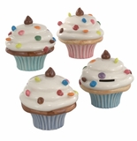 "Andrea by Sadek 4 Assorted 5"" H Cup Cake Banks"