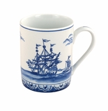 "Andrea by Sadek 4"" H Round Mug Blue Export (Set of 4)"