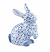 "Andrea by Sadek 5.75"" H Sitting Rabbit Blue Net Pair"