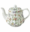 "Andrea by Sadek 6"" H Ribbed Teapot Garden Bouquet"