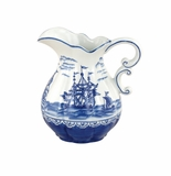 "Andrea by Sadek 7.5"" H Pitcher Blue Export"