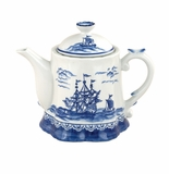 "Andrea by Sadek 7.5"" H Teapot Blue Export"