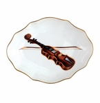 "Andrea by Sadek 7"" L Oval Music Plate"