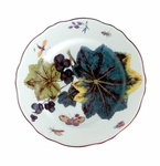 "Andrea by Sadek 8.25"" D Chelsea Grape Leaf Plate (Set of 2)"
