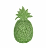 "Andrea by Sadek 8"" L Green Pineapple Shaped Plates (4)"