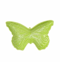 "Andrea by Sadek 9.75""L Green Butterfly Dishes (4)"