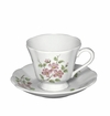 Andrea by Sadek Apple Blossom Cup and Saucers (Set of 4)