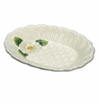 Andrea by Sadek Basket Weave Dish with Daisy