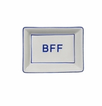 "Andrea by Sadek ""Bff"" Soap or Catch-All  Dish - Blue Border"
