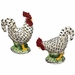 Andrea by Sadek Black/Cream Roosters Pair
